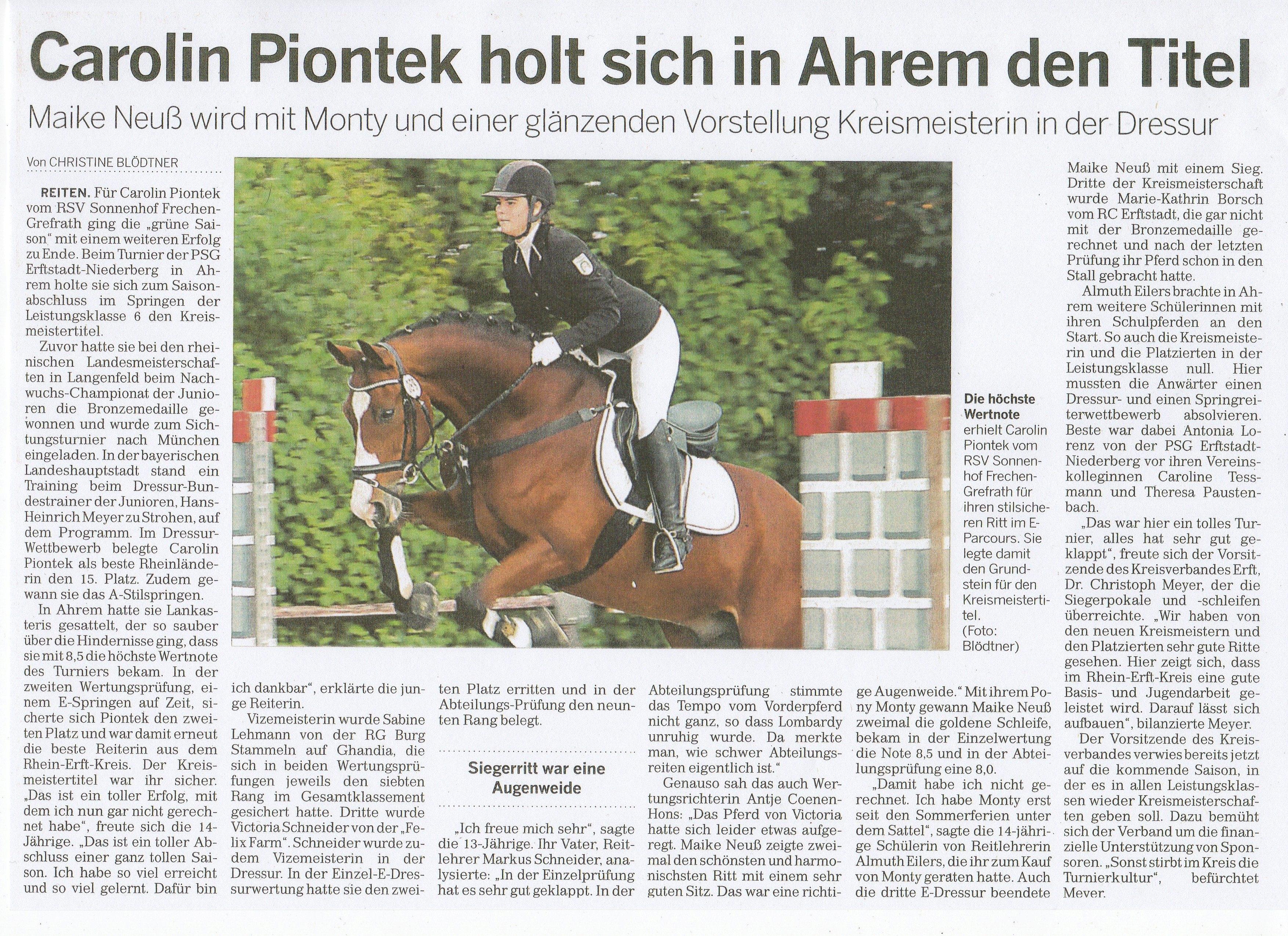 Zeitungsartikel Rundschau 9.10.2013